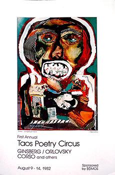 Bill Gersh - Taos Poetry Circus Poster